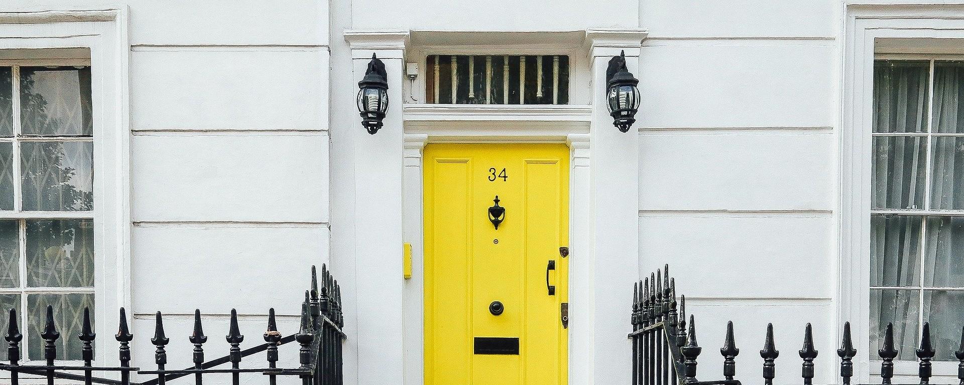 Edwardian house smart yellow door