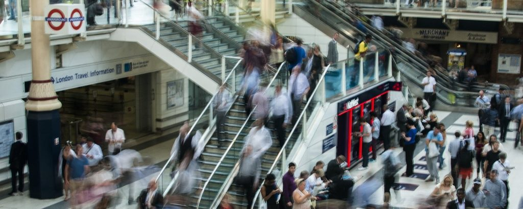 busy train stations during rush hour can add to your commute time