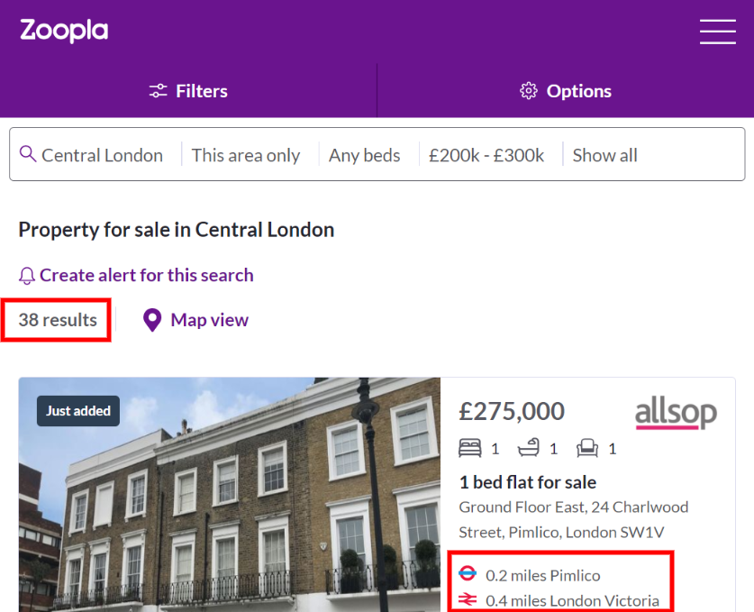 With a minimum deposit for a house of £20,000 you can just about afford a property in central London