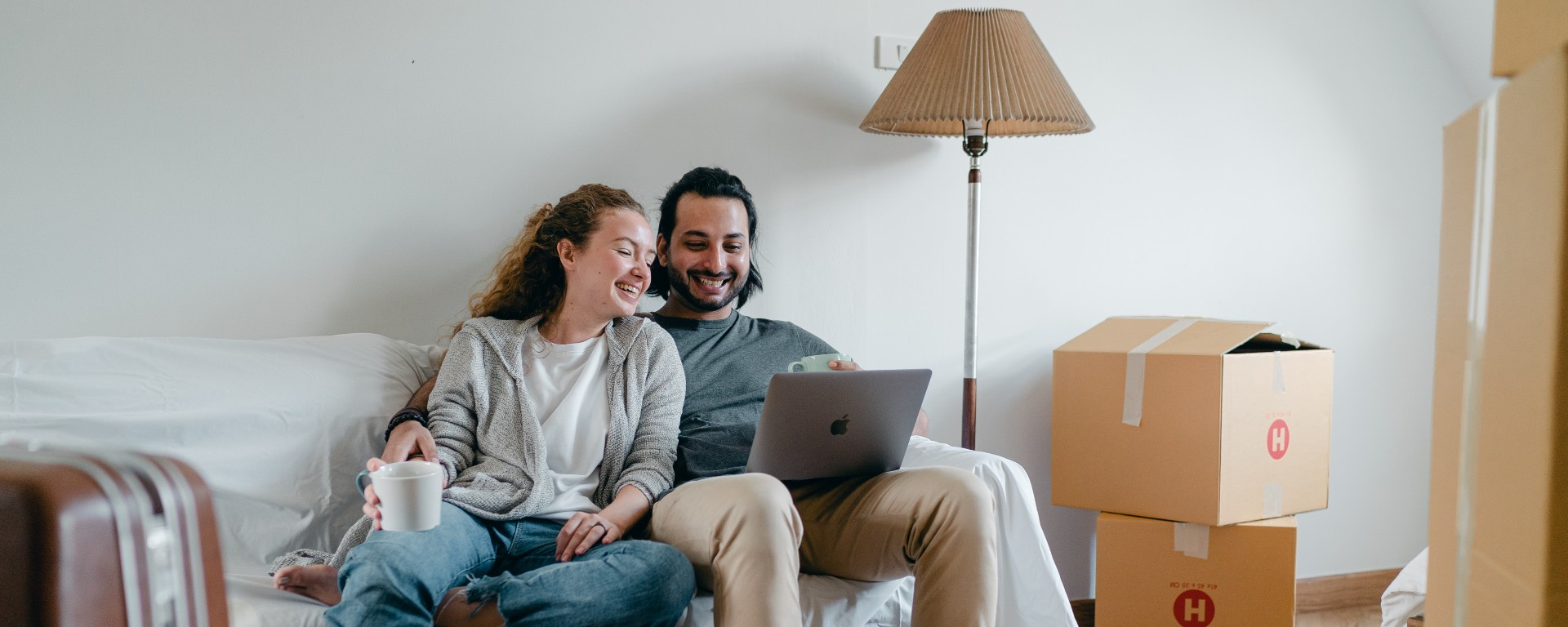 cohabiting partners moving in together to a new home